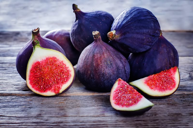 Brightly colored figs