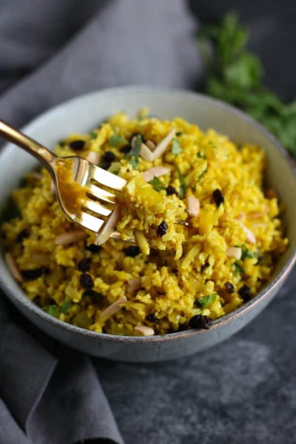 Golden Cauliflower Rice