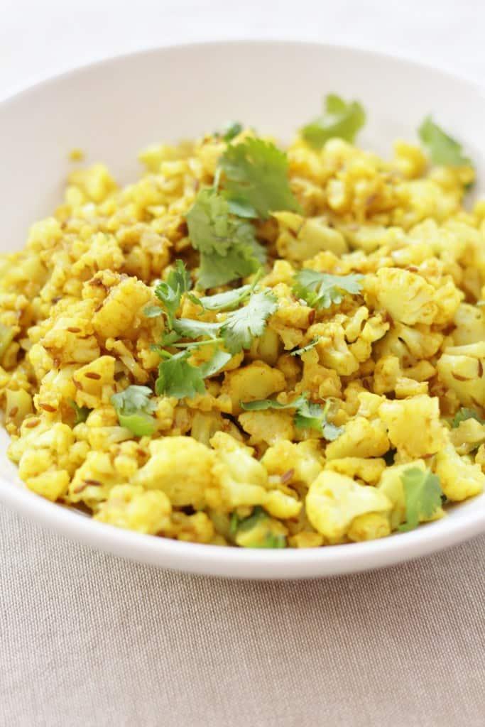 Indian Spiced Cauliflower Rice