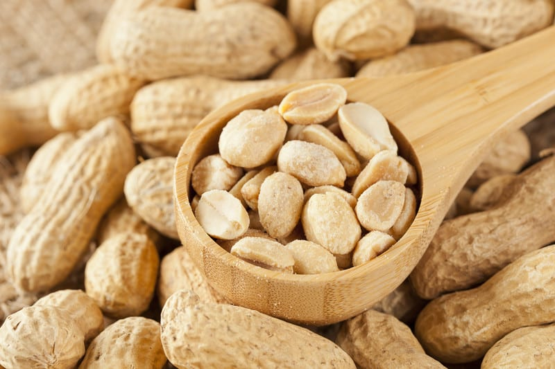 Peanuts in their shells and shelled peanuts