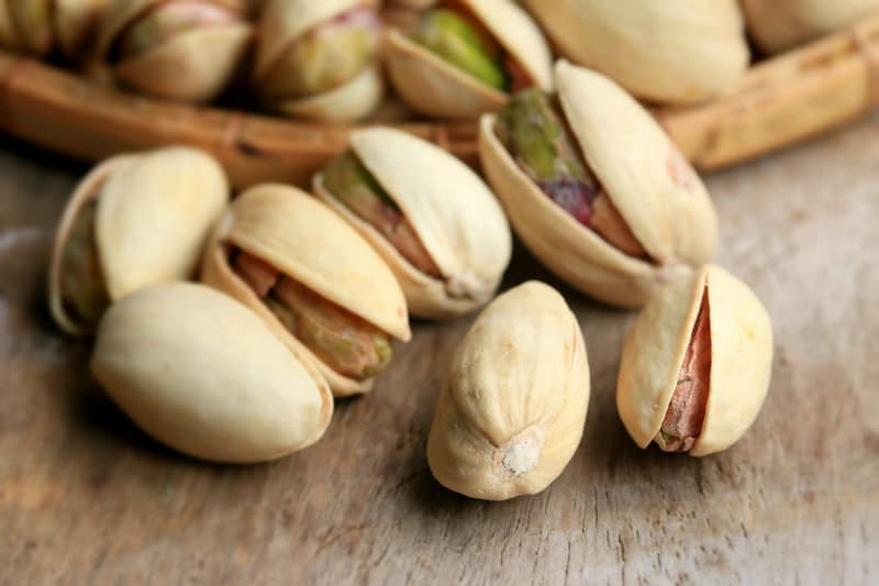 Pistachio Nuts on a table