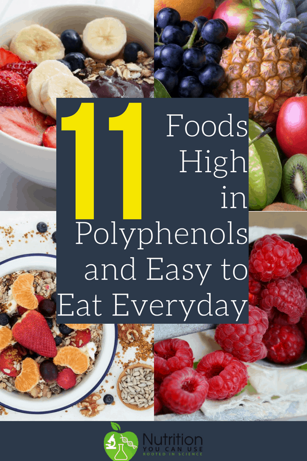 Find out the 11 best foods that are high in polyphenols AND are easy to eat everyday!