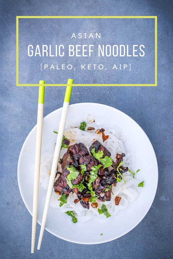 Asian Garlic Beef Noodles Recipe