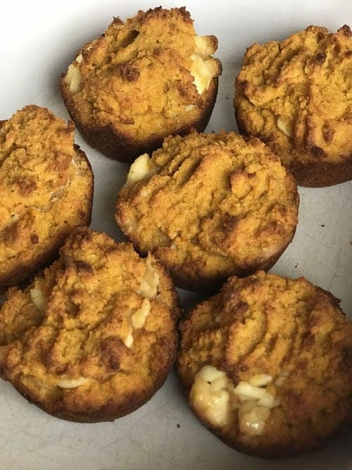 Low Carb Pumpkin Cream Cheese Muffins