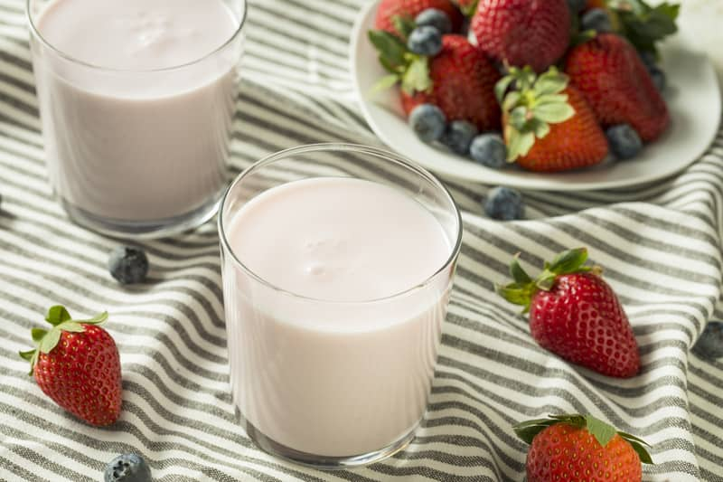 Kefir drinkable yogurt