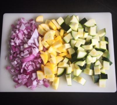 meal prep chopped vegetables