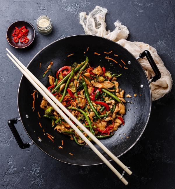 healthy stir fry meal