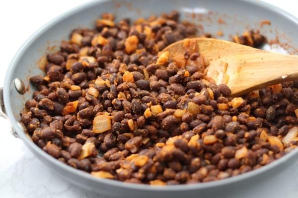 spiced black beans