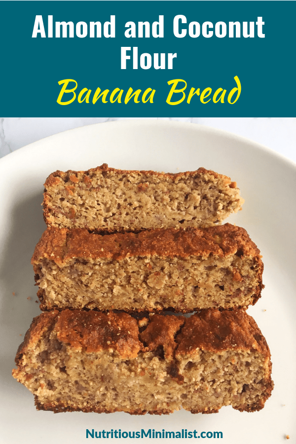 almond and coconut flour banana bread
