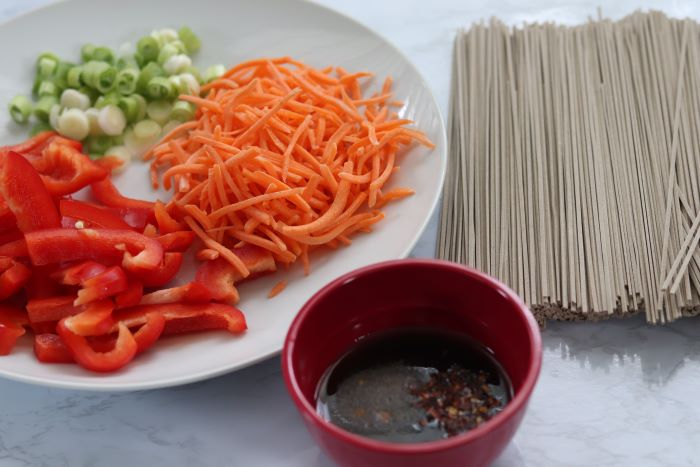 soba noodle ingredients