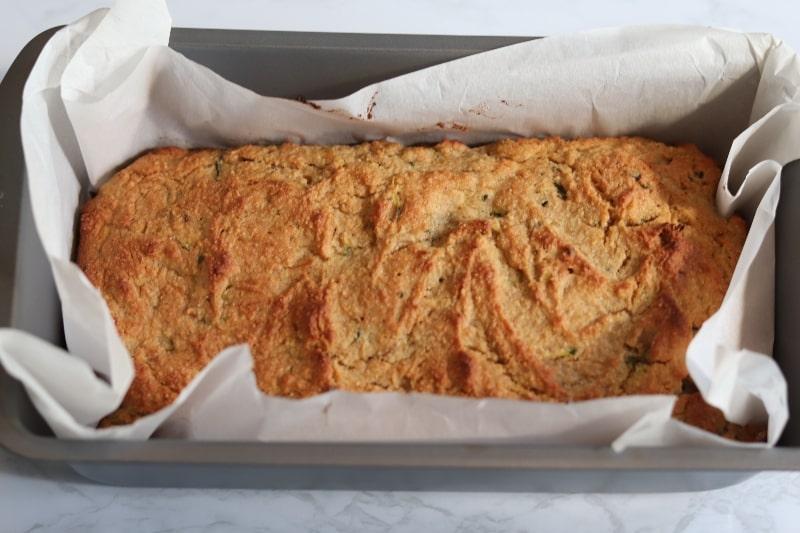 zucchini bread in loaf pan