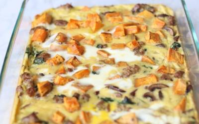 Breakfast Casserole with Sausage and Vegetables