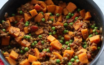Meal Prep Ground Beef and Sweet Potato Skillet