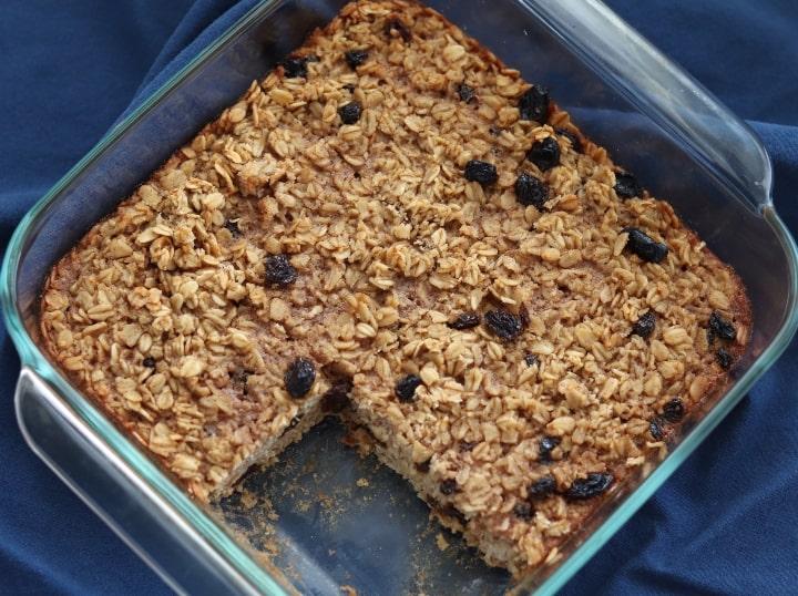 raisin cookie baked oatmeal