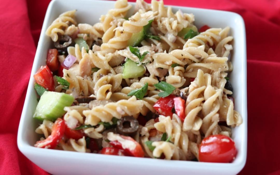 Meal Prep Healthy Tuna Pasta Salad