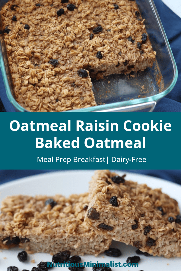 baked oatmeal pin image