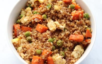 Healthy Quinoa Fried Rice Bowl