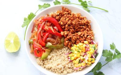 Vegan Tempeh Burrito Bowl