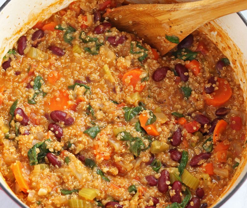quinoa vegetable bean stew recipe