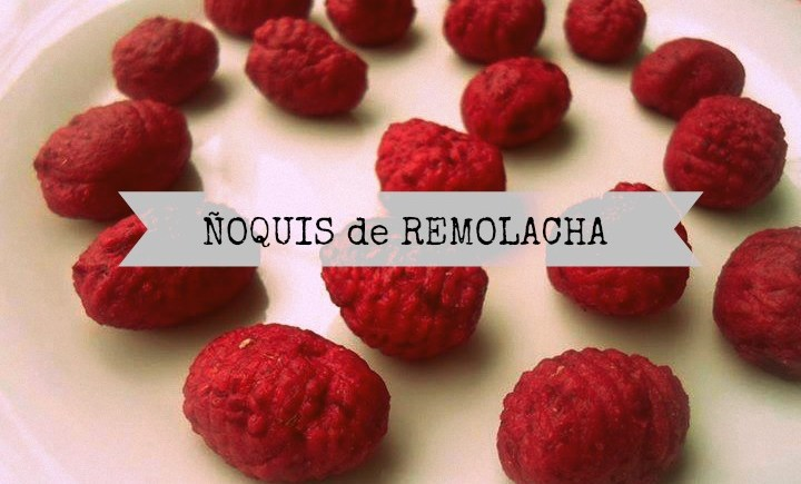 ñoquis de remolacha vegano vegetariano casero facil nutricionsita stefanie heguy montevideo uruguay