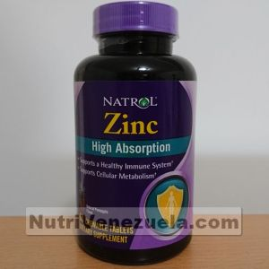 Zinc De Alta Absorcion De Natrol. 60 Tabletas Masticables