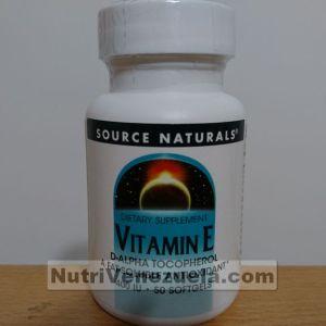 Vitamina E 400 UI Venezuela Source Naturals