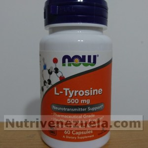 L-Tirosina 500mg de NOW, 60 Capsulas