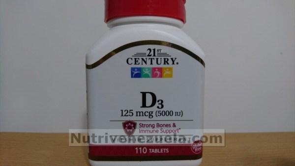 Vitamina D3 5000IU 110 Tabletas