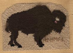 petei needlepoint buffalo