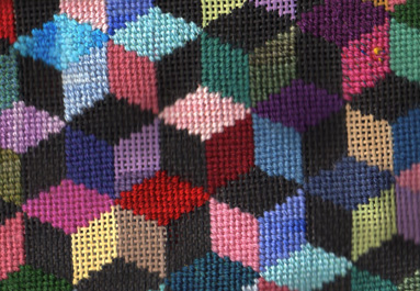 Susan Roberts needlepoint quilt portrait needlepoint