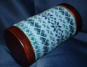 Free Project Fair Isle Needlepoint Bolster