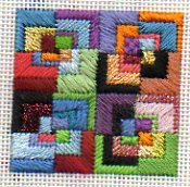 Eye Candy geometric canvas