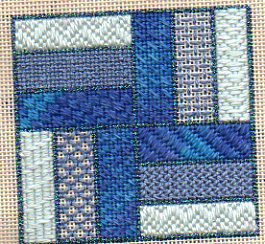 rail fence needlepoint sampler
