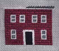 Colonial Brick House in Needlepoint – Part 1