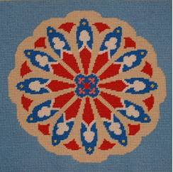 Needlepoint Kneeler Rose Window