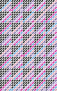 Amish roman stripe quilt chart for needlepoint
