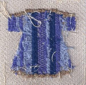 back of Patt & Lee needlepoint kimono