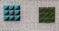 arrowhead stitch samples from Rittenhouse needlepoint