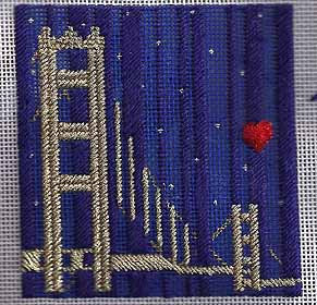 san francisco needlepoint ornament from Princess & Me