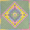 sunrise charted needlepoint by ruth dilts