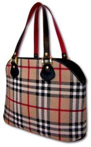 burberry plaid purse from needlepoint inc