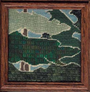 craftsman trees cashmere stitch needlepoint by janet perry