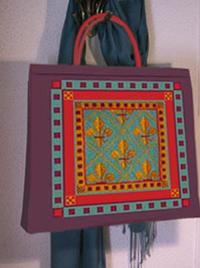 Fleur de Lis Tote – Free Pattern from Ziva Needlepoint