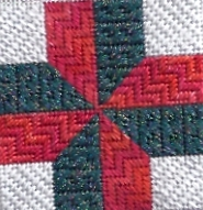 needlepoint quilt block by janet m perry