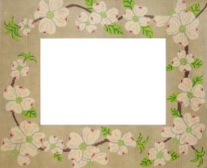 dogwood needlepoint picture frame