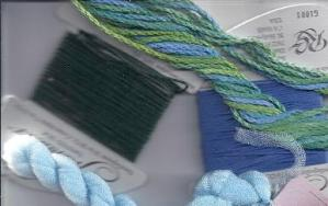 thread colors for laura perin's mini mystery needlepoint project