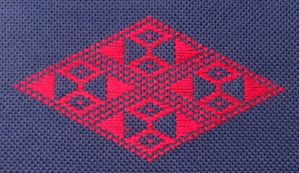 kogin (pattern darning) embroidery pattern