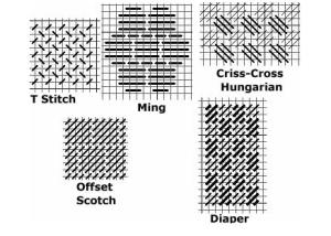 5 needlepoint background stitches