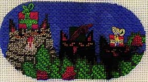 needlepoint cats stitched by needlepoint expert janet m. perry, quail run canvas