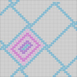 Nutty Rectangles Free Bargello Needlepoint Pattern, designed by needlepoint expert Janet M. Perry
